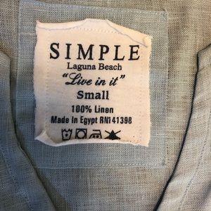 Simple Tops - SIMPLE LAGUNA BEACH LINEN TUNIC S